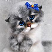 Куклы и игрушки ручной работы. Ярмарка Мастеров - ручная работа Кошка Мусечка. Handmade.