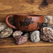 Кружки ручной работы. Ярмарка Мастеров - ручная работа Чашка с оленями. Handmade.