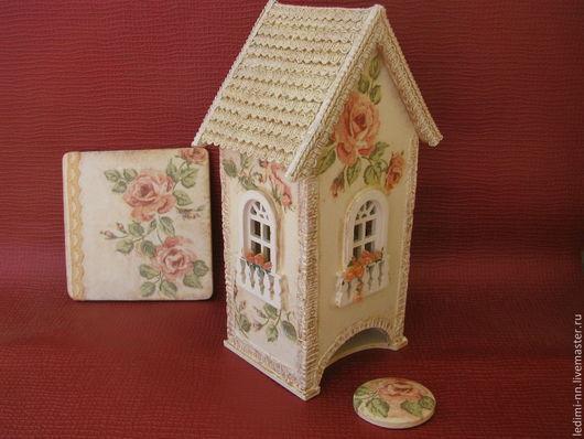 чайный домик, чайный домик, для кухни, чайный домик декупаж, чайный короб, подарок на новый год, подарок на свадьбу, подарок на новоселье, подарок хозяйке, чайный домик купить, ночник, светильник,