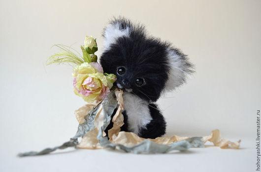 Мишки Тедди ручной работы. Ярмарка Мастеров - ручная работа. Купить Кошечка Асти. Handmade. Черный, игрушка ручной работы