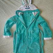 Одежда ручной работы. Ярмарка Мастеров - ручная работа Детский халат с ушками. Handmade.