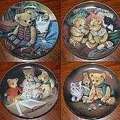 Винтаж handmade. Livemaster - original item Collection plates