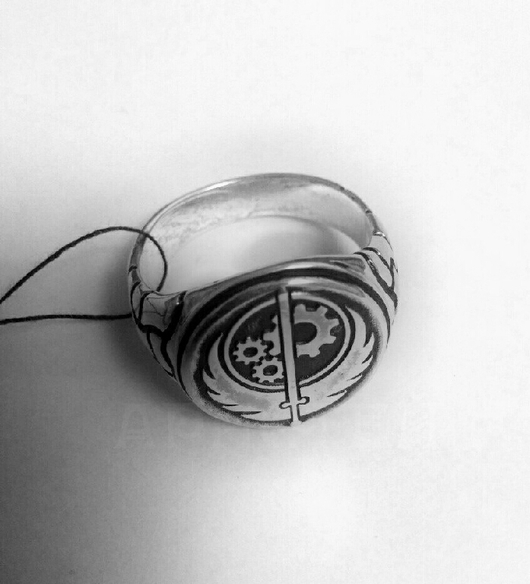 """Кольца ручной работы. Ярмарка Мастеров - ручная работа. Купить Кольцо """"Братство стали"""" (Fallout). Handmade. Кольцо ручной работы"""