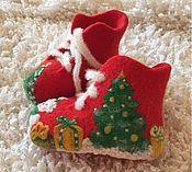 Обувь ручной работы. Ярмарка Мастеров - ручная работа Пинетки Новогоднее чудо. Handmade.