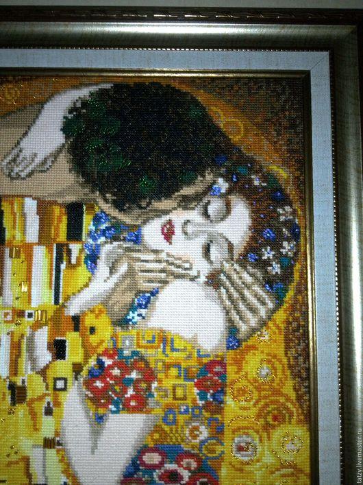 Люди, ручной работы. Ярмарка Мастеров - ручная работа. Купить Поцелуй. Вышивка по мотивам картины Густава Климта. Handmade. Комбинированный