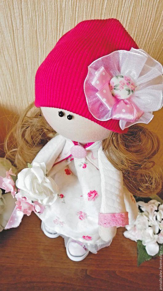 Куклы тыквоголовки ручной работы. Ярмарка Мастеров - ручная работа. Купить Кукла Машенька интерьерная текстильная. Handmade. Розовый, девочке
