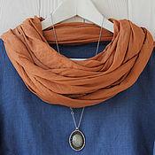 Аксессуары handmade. Livemaster - original item Light terracotta scarf-scarf made of fine cotton. Handmade.