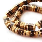 Материалы для творчества handmade. Livemaster - original item Coconut beads laminated face tube. Handmade.
