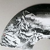 Фен-шуй и эзотерика ручной работы. Ярмарка Мастеров - ручная работа Картина на веере Снежная ночь. Handmade.