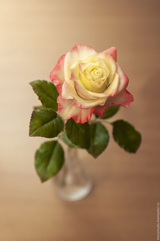 Искусственные растения ручной работы. Ярмарка Мастеров - ручная работа. Купить Роза из полимерной глины. Handmade. Розы, цветок, маме