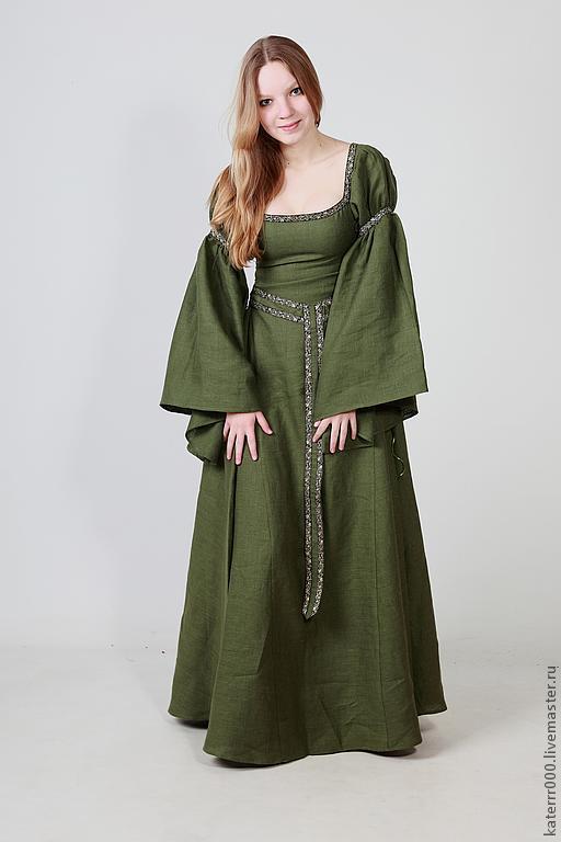 Эльфийское платье мод.4 с поясом, Костюмы для кослпея, Ульяновск,  Фото №1