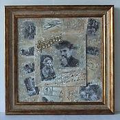 """Картины и панно ручной работы. Ярмарка Мастеров - ручная работа Панно """"Великому Чарли Чаплину посвящается, или """"Огни большого города"""". Handmade."""