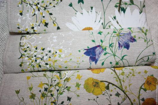 """Кухня ручной работы. Ярмарка Мастеров - ручная работа. Купить Набор полотенец """"Полевые цветы"""". Handmade. Комбинированный, набор полотенец"""