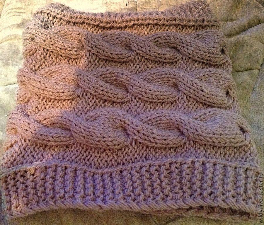 предлагаем вам вяжем шарф снуд с косами фото мк чего сделана