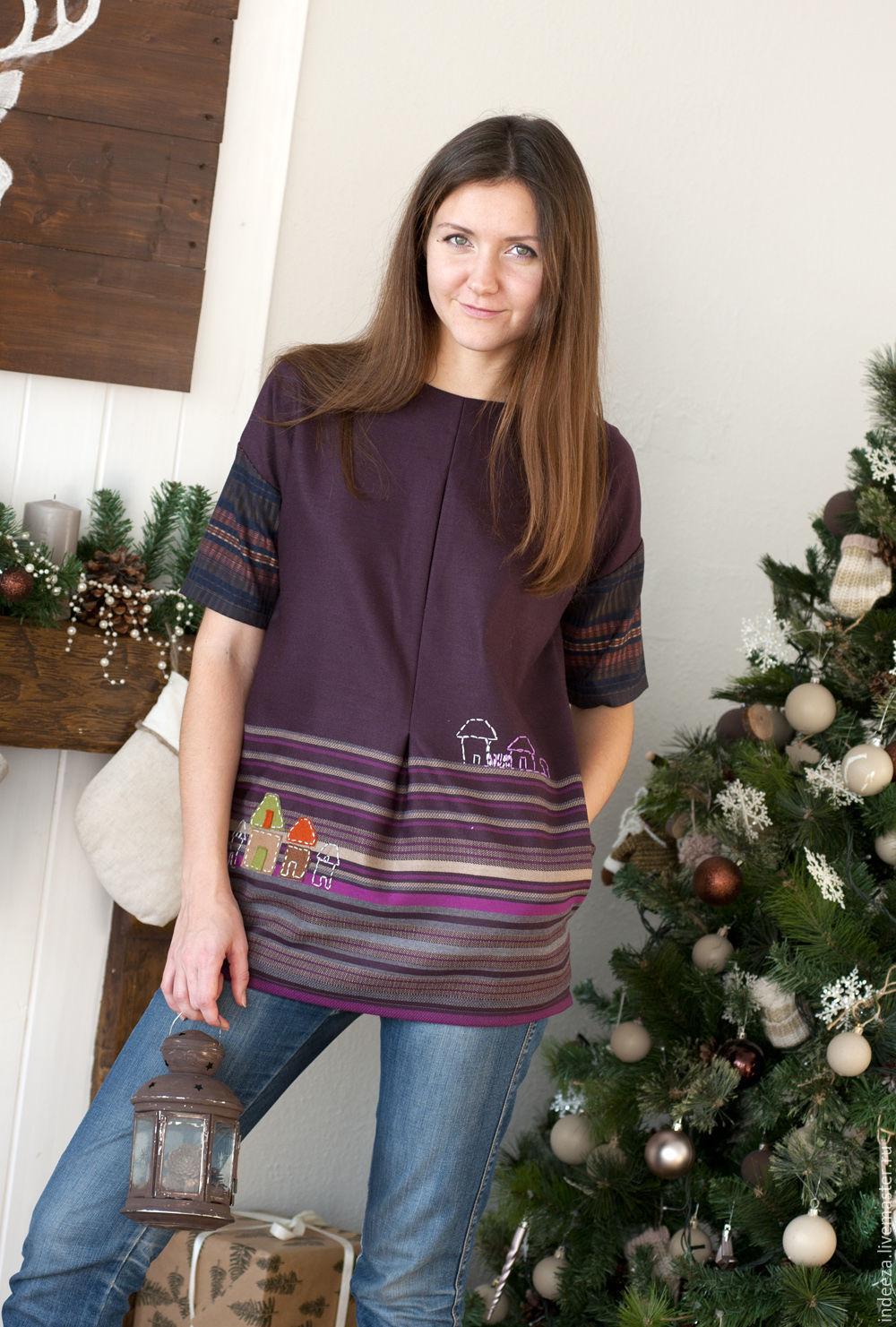 Dresses handmade. Livemaster - handmade. Buy Tunic 'Urban motifs'.Boho, fall-winter