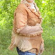 Одежда ручной работы. Ярмарка Мастеров - ручная работа Жакет ЭКО стиль. Handmade.