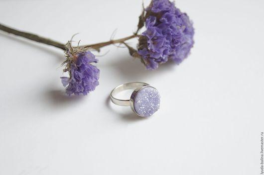 """Кольца ручной работы. Ярмарка Мастеров - ручная работа. Купить """"Лаванда"""" кольцо с кварцем. Handmade. Бледно-сиреневый, кварц, для девочки"""