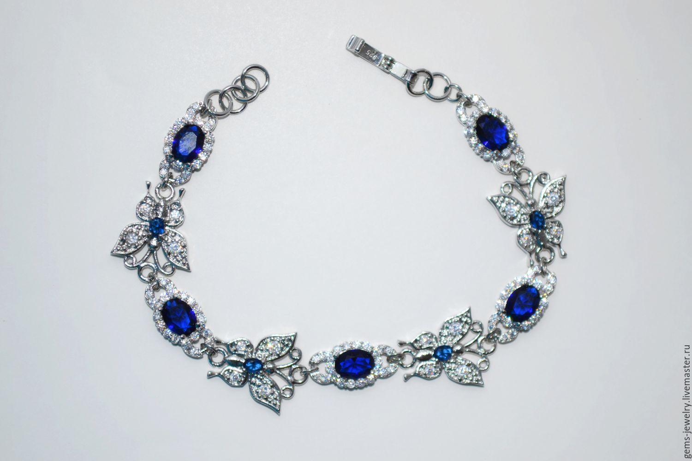 Весенний браслет с синими кварцами, Браслеты, Белгород, Фото №1