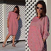 Одежда ручной работы. Ярмарка Мастеров - ручная работа Платье EGGDRESS RED STRIPES. Handmade.