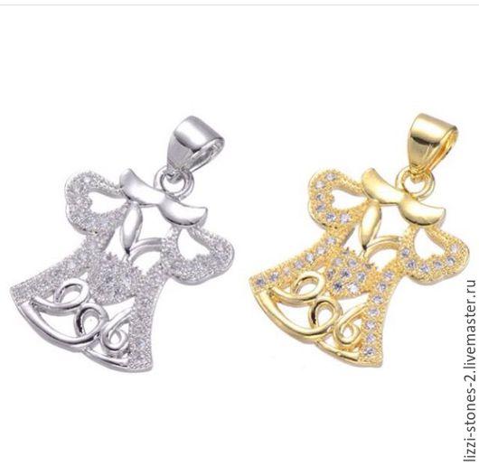 Подвеска Платье серебро и золото (Milano) Евгения (Lizzi-stones-2)