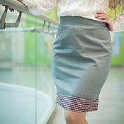 Одежда handmade. Livemaster - original item New autumn Skirt combined. Handmade.