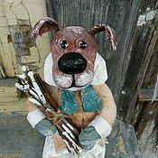 Подарки к праздникам ручной работы. Ярмарка Мастеров - ручная работа Собака с хворостом. Handmade.