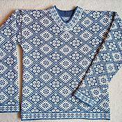 """Одежда ручной работы. Ярмарка Мастеров - ручная работа Джемпер """"Василек"""". Handmade."""