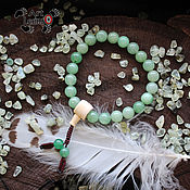 Фен-шуй и эзотерика handmade. Livemaster - original item Buddhist prayer beads Mala of aventurine and Jasper, 27 grains. Handmade.