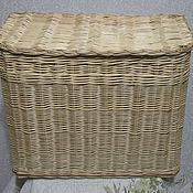Для дома и интерьера ручной работы. Ярмарка Мастеров - ручная работа Короб плетеный прямоугольный из ивовой лозы с крышкой. Handmade.