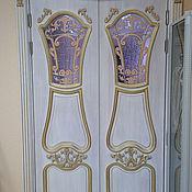 Для дома и интерьера handmade. Livemaster - original item Stained glass window in the hinged door of