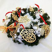 Подарки к праздникам ручной работы. Ярмарка Мастеров - ручная работа Новогодние игрушки на елку из дерева (набор). Handmade.