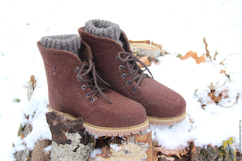 b16c2385f Обувь ручной работы. Ярмарка Мастеров - ручная работа. Купить Валяные  мужские ботинки