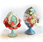 Подарки к праздникам ручной работы. Ярмарка Мастеров - ручная работа Яйцо пасхальное декоративное. Handmade.