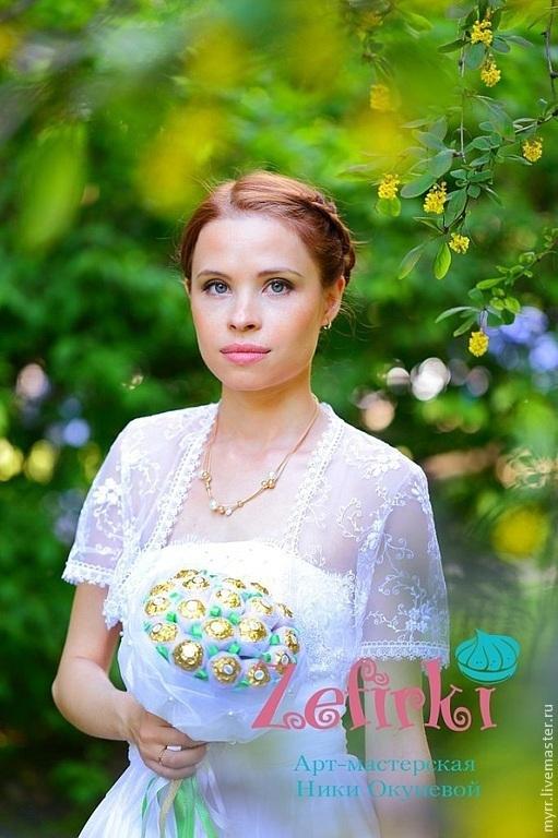 Букеты ручной работы. Ярмарка Мастеров - ручная работа. Купить Букет  невесты из конфет в органзе букет из конфет подарок невесте. Handmade.