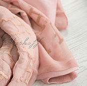 """Палантины ручной работы. Ярмарка Мастеров - ручная работа Шелковый двухсторонний шарф из ткани Hermes """"Monogram"""". Handmade."""