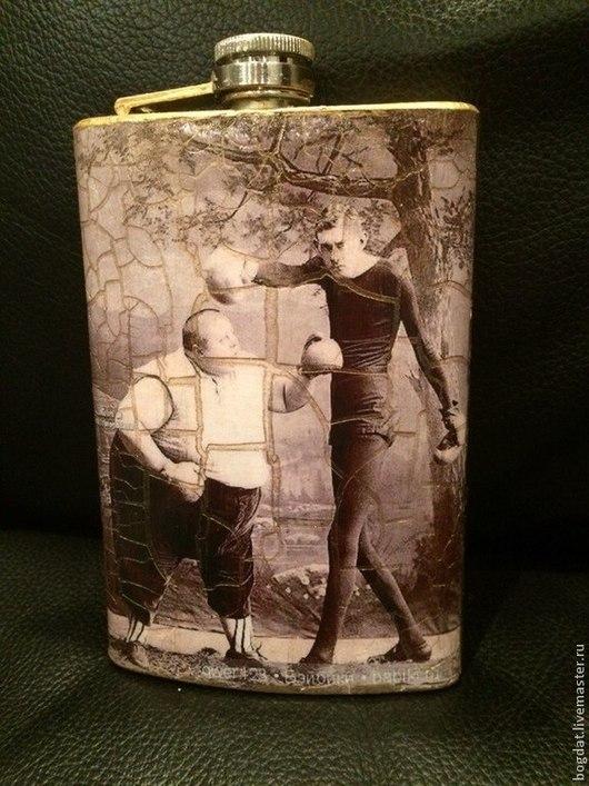 """Подарки для мужчин, ручной работы. Ярмарка Мастеров - ручная работа. Купить Фляжка """"Винтаж"""". Handmade. Чёрно-белый, винтаж, металл"""