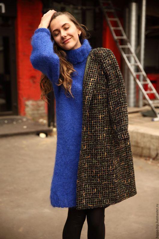 Кофты и свитера ручной работы. Ярмарка Мастеров - ручная работа. Купить Свитер-платье. Handmade. Комбинированный, теплое платье