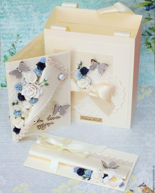 Подарки на свадьбу ручной работы. Ярмарка Мастеров - ручная работа. Купить Подарок на свадьбу (свадебная открытка конверт для денег  пакет). Handmade.
