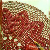 Подарки к праздникам ручной работы. Ярмарка Мастеров - ручная работа Салфетка Филейка. Handmade.