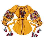 """Одежда handmade. Livemaster - original item Блуза с вышивкой """"Агатовые Розы"""". Handmade."""