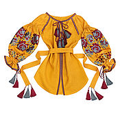 "Blouses handmade. Livemaster - original item Блуза с вышивкой ""Агатовые Розы"". Handmade."