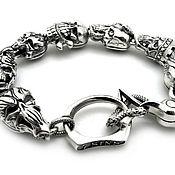 Фаланговое кольцо ручной работы. Ярмарка Мастеров - ручная работа Браслет из серебра Seven Deadly Sins AZB-024Lt. Handmade.