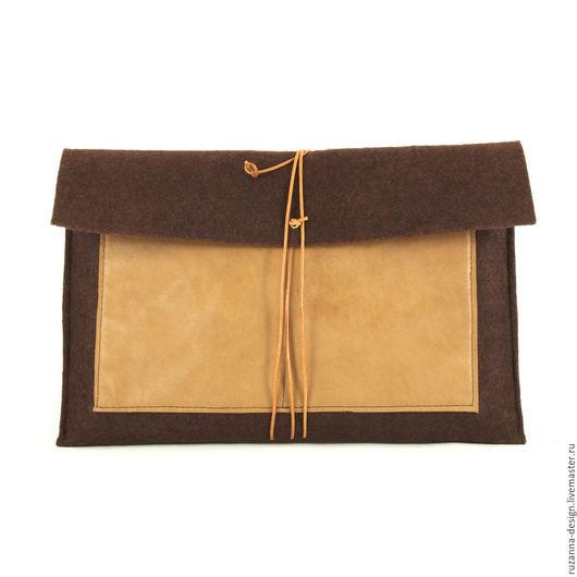 Папки для бумаг ручной работы. Ярмарка Мастеров - ручная работа. Купить Деловая папка для бумаг и документов (тонкий фетровый клатч конверт). Handmade.