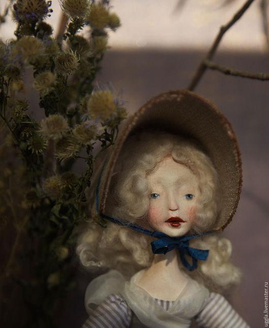 Коллекционные куклы ручной работы. Ярмарка Мастеров - ручная работа. Купить Кукла ручной работы Луиза. Резерв.. Handmade. Серый