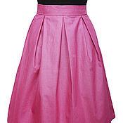 Одежда ручной работы. Ярмарка Мастеров - ручная работа SALE! -70% Юбка розовая блестящая нарядная. Handmade.