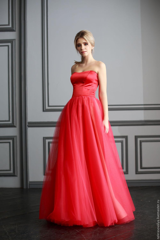 69301261eb87009 Платья ручной работы. Ярмарка Мастеров - ручная работа. Купить Красное  вечернее платье 'Миреил ...