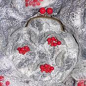 """Аксессуары ручной работы. Ярмарка Мастеров - ручная работа Комплект """"Серебряный иней и ягод пожар"""". Handmade."""