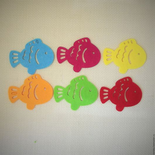 """Аппликации, вставки, отделка ручной работы. Ярмарка Мастеров - ручная работа. Купить Вырубка из фетра """"Рыбка"""". Handmade. Апликация, украшение"""