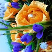 Цветы и флористика ручной работы. Ярмарка Мастеров - ручная работа Букет из конфет Желтые розы. Handmade.