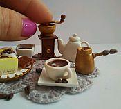 """Куклы и игрушки ручной работы. Ярмарка Мастеров - ручная работа набор миниатюры """"Кофейная радость"""". Handmade."""